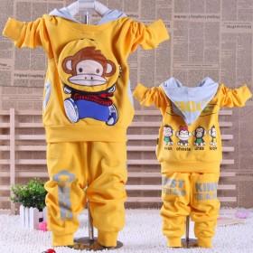 儿童长袖秋装男童女童两件套装新款2016秋季