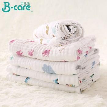 婴儿纱布浴巾新生儿纯棉毛巾 105X105 6层