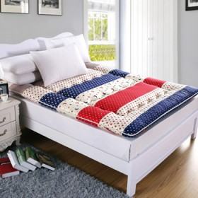 顺溜家纺 纯棉10cm加厚床垫榻榻米床垫可折叠