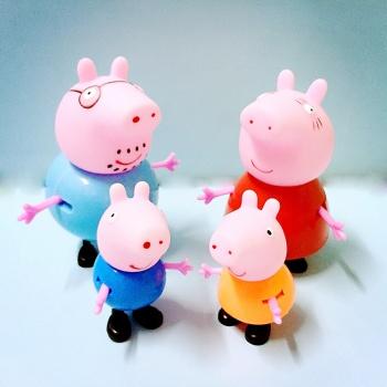 【包邮】 小猪佩奇一家四口套装