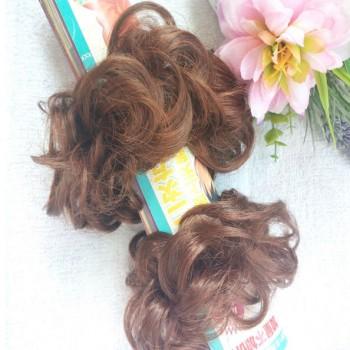 两个假发发圈 丸子头发饰 头花 一大一小 - 众划算