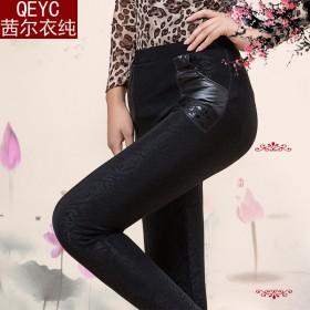 春秋薄款中老年女裤妈妈装外穿打底裤中年女装休闲长裤