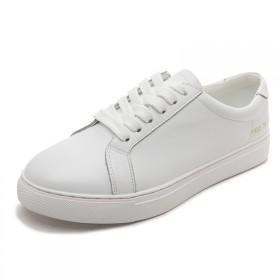 杨幂同款小白鞋女真皮平底鞋百搭低帮鞋学生运动鞋情侣
