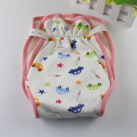 婴儿纯棉尿布裤透气防水尿布兜宝宝四季可洗尿布裤防侧