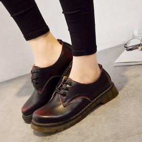 马丁鞋女英伦学院风真皮百搭低帮鞋情侣鞋