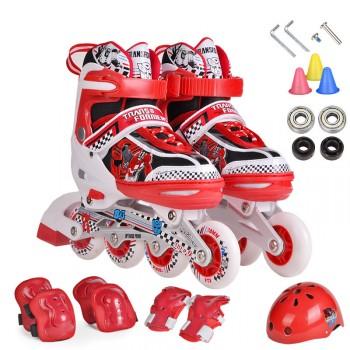溜冰鞋套装8轮全闪儿童可调溜冰鞋