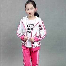 2016秋季儿童装女童装长袖秋装休闲运动套装