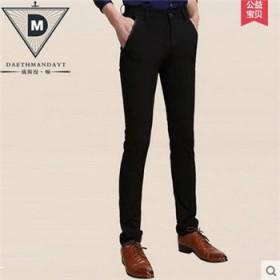 秋季休闲裤男韩版修身小脚裤西裤男