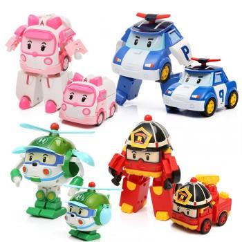 【包邮】 韩国q版变形警车珀利 变身消防车飞机玩具