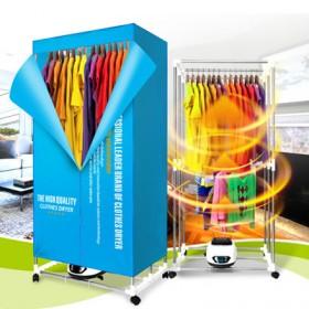 干衣机家用可折叠双层大容量遥控静音速干省电烘衣机
