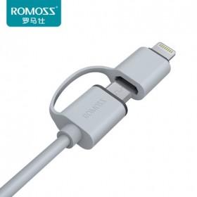 罗马仕一拖二数据线苹果安卓通用