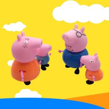 佩佩猪粉红猪小妹小猪佩奇和猪爸爸猪妈妈四口过家家