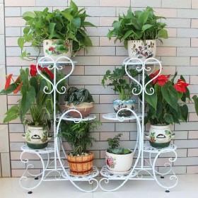艺术三层花盆架加固加粗简约阳台客厅落地绿萝花