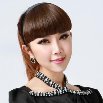 【包邮】 假刘海女发箍齐刘海麻花辫子斜刘海鬓角假发刘海片头箍图片