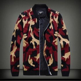 新品加厚内层毛衣外套男潮牌迷彩黑红百搭加肥针织开衫