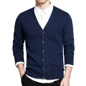 100%纯棉毛衣男 针织衫男士 毛衫 打底开衫