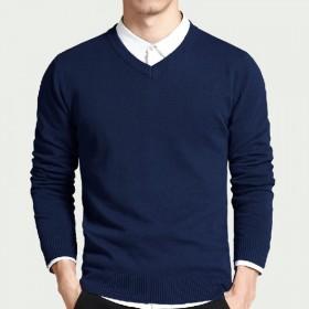 100%纯棉毛衣男 针织衫男士 毛衫 打底衫