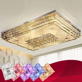 客厅灯简约现代大气水晶灯长方形卧室灯吸顶灯led创