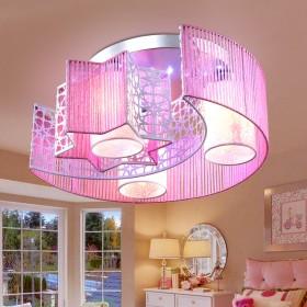 卧室灯温馨浪漫儿童房灯现代简约创意圆形led吸顶灯