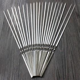 不锈钢扁签烧烤针20根装
