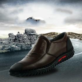 骆驼品牌真皮牛皮商务休闲皮鞋