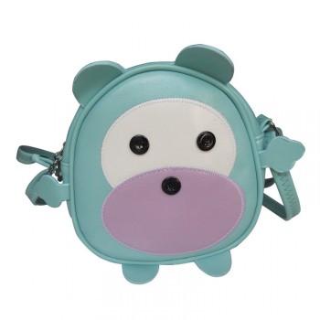 【包邮】 可爱呆呆熊儿童包单肩斜挎小圆包手机零钱街拍包女包
