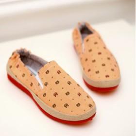 韩版软面低帮休闲鞋透气棉布鞋浅口一脚蹬懒人鞋圆头套