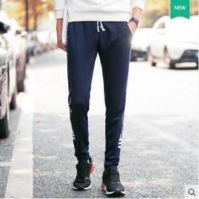 男士休闲裤秋季青少年韩版修身学生长裤子束脚运动裤