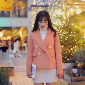 韩版定制 毛呢大衣小西装短外套