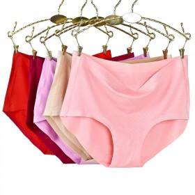 三条装无痕内裤女 舒适透气性感纯色简约三角裤
