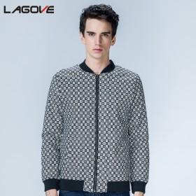 夹克外套 男士韩版修身格子夹克 薄夹克 男装