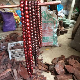 印度小叶紫檀老料金星108颗佛珠手串手链
