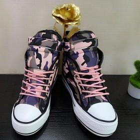 女迷彩棉鞋高帮加绒帆布鞋女韩版休闲板鞋女鞋学生