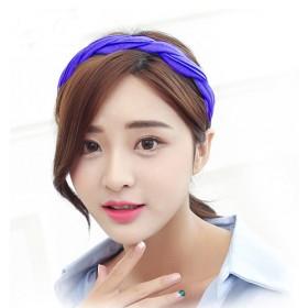 韩国女孩波浪条纹束发箍清新纯色发饰头饰布艺发卡发饰