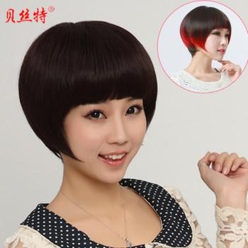 【包邮】 渐变色假发短发女短直发齐刘海蘑菇头发型假发套bob图片