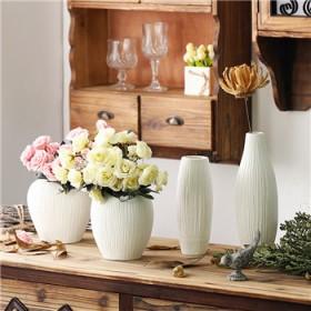 欧式花瓶客厅摆件陶瓷小花瓶
