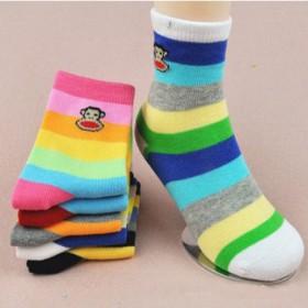五双装 纯棉秋冬儿童短袜