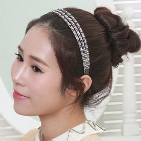 韩国发饰水钻发箍宽边头箍发夹