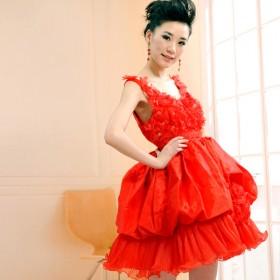 婚纱礼服伴娘服抹胸韩版演出小礼服