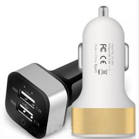 车载充电器一拖二双USB口汽车通用款颜色随机发货