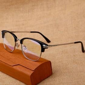 薛之谦同款复古半框眼镜架