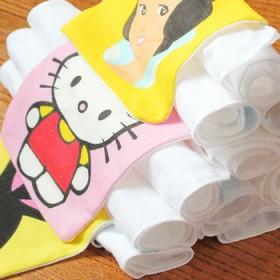 4条装大码宝宝隔汗巾儿童纯棉吸汗巾/垫背巾 4层