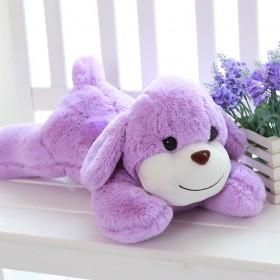 紫色薰衣草可爱布趴趴狗毛绒玩具车饰生日玩偶女生抱枕