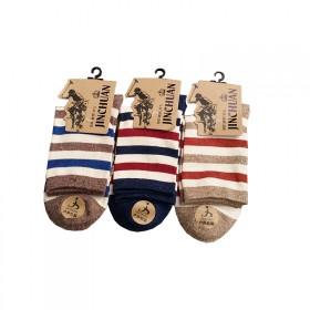 5双户外运动秋冬男士纯棉袜子中筒羽毛球篮球跑步登山