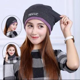 韩版帽子女包头帽秋冬个性潮套头帽时尚头巾帽多用围脖