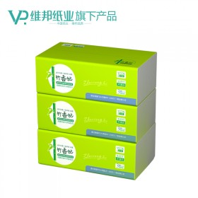 (拍2包可以送2包)维邦天然竹纤维本色抽纸3包装