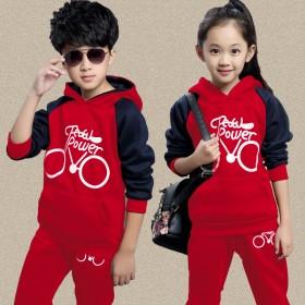 2016秋装新款童装男童女童卫衣休闲运动儿童套装