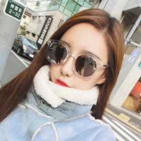 2016新款韩版圆框炫彩透明彩膜墨镜太阳眼镜