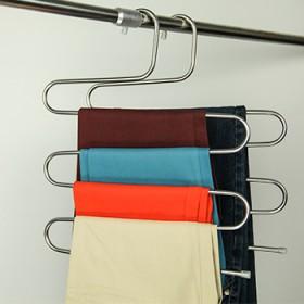 不锈钢s型多层裤架挂裤子的衣架创意收纳裤架子裤夹子