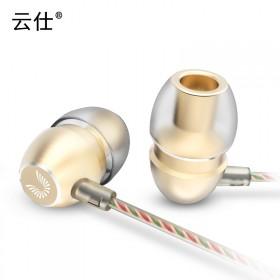 云仕 hm7 金属耳塞式重低音乐电脑通用耳机入耳式